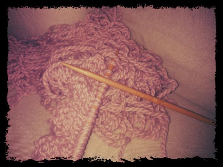 Couverture bébé laine tricot