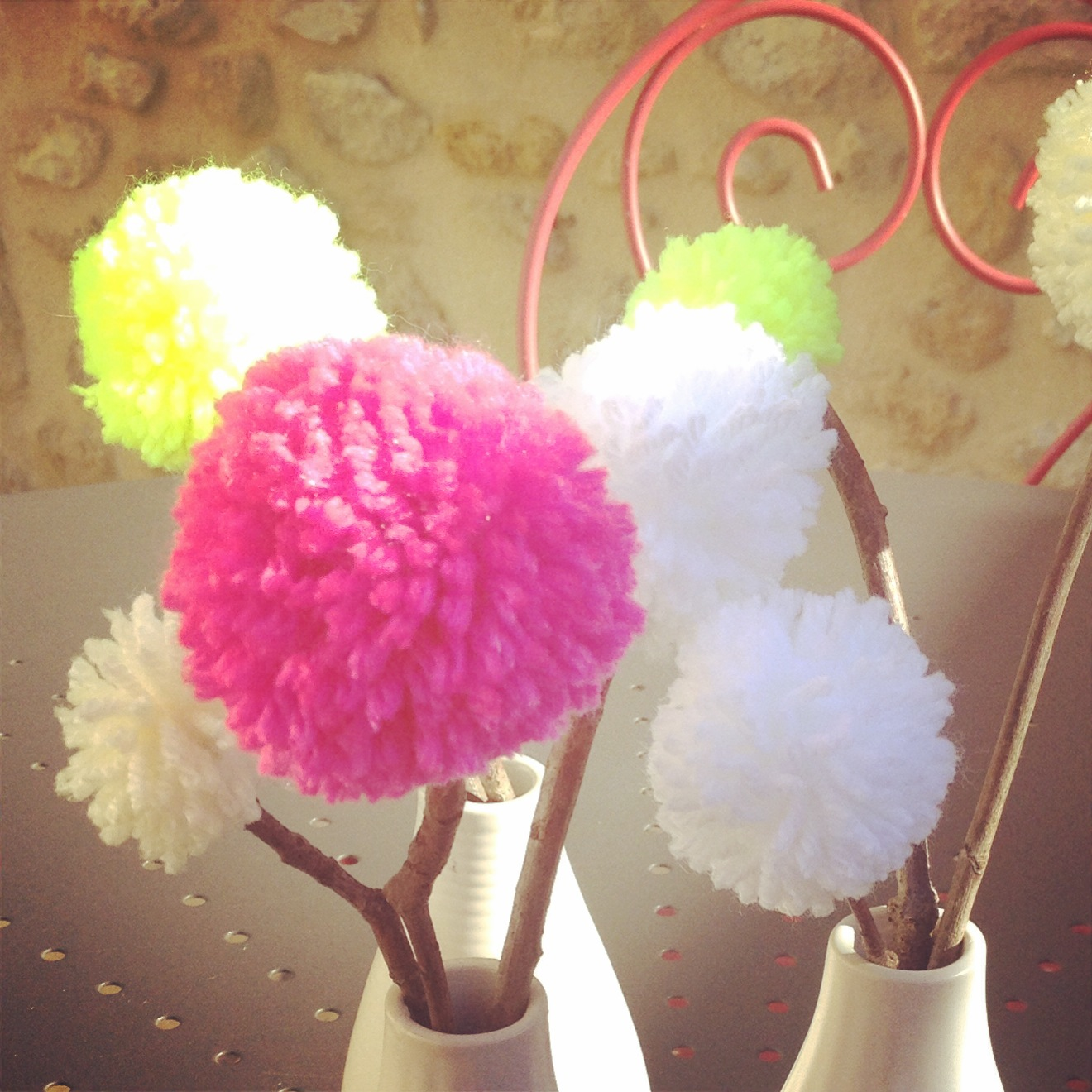 Deco Pompons En Laine le joli bouquet de pompons - wool ma poule