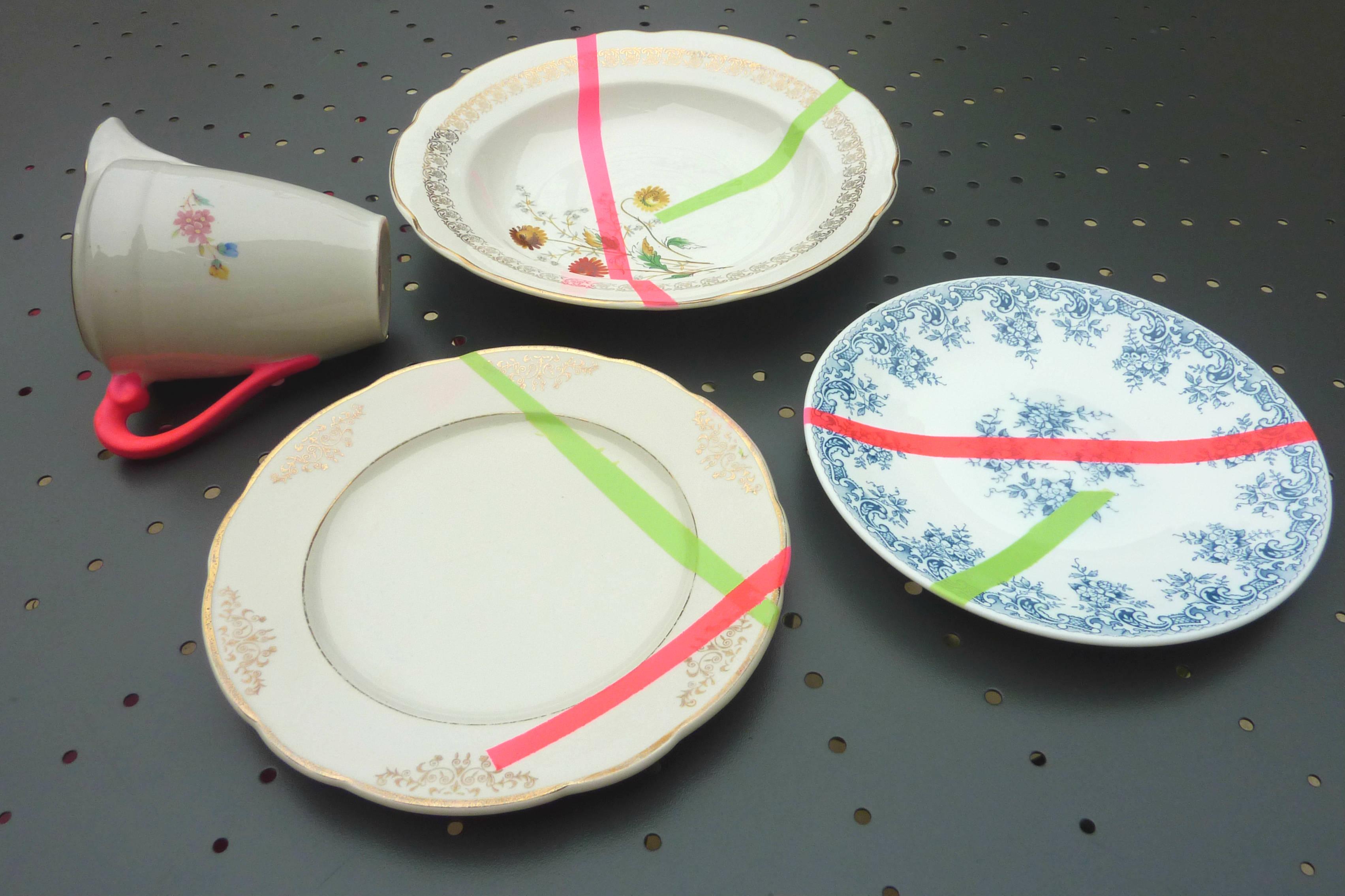 D ringardise la vaisselle de ta mamie wool ma poule - Peinture pour vaisselle ...