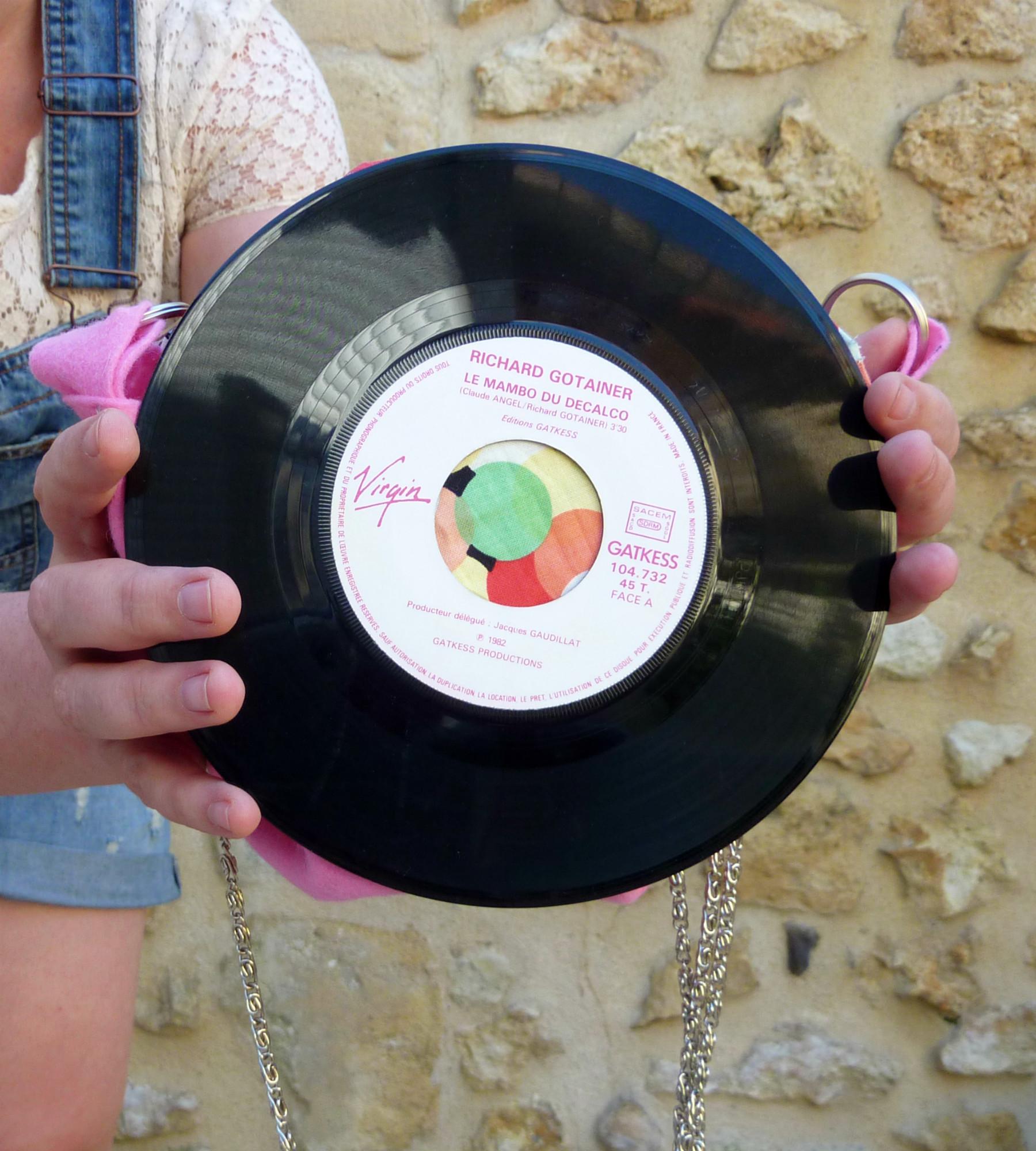 Le sac en disques vinyles wool ma poule - Deco avec disque vinyl ...