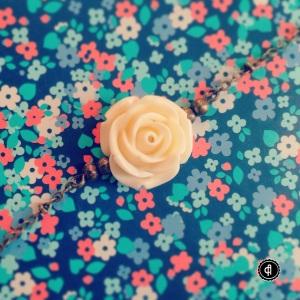 Bracelet rose crème Amapola Créations