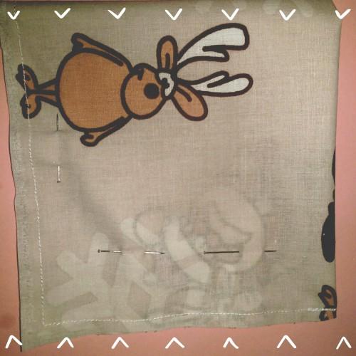 tissu cadeau papier Noel DIY