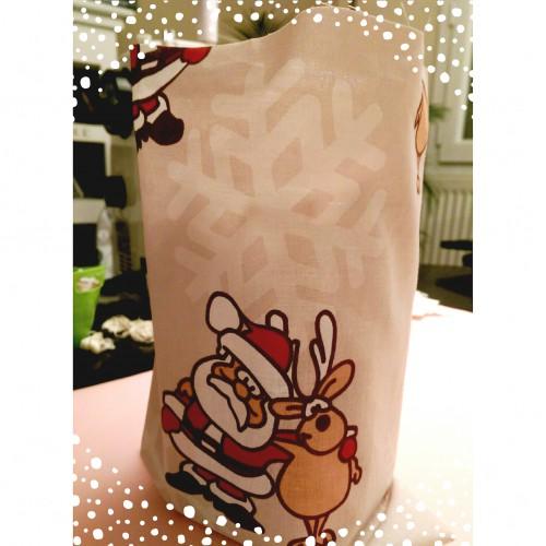 tissu papier cadeau de Noel