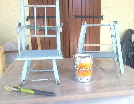 chaise peinture