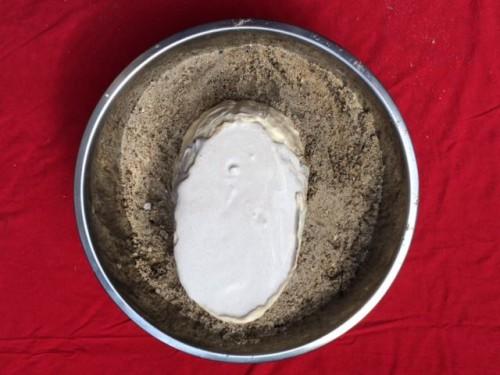 masque sable platre